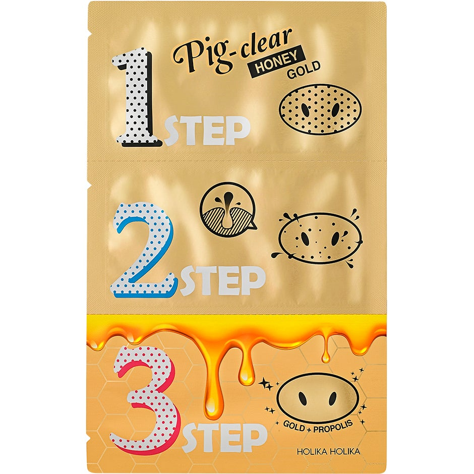 Pig Nose Clear Blackhead 3-Step Honey Gold 8 gr Holika Holika Ansiktsmask