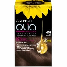 Garnier Olia Permanent Hair Colour, 4.15 Ash Mahogany