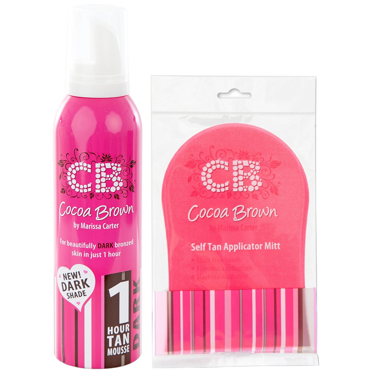 Cocoa Brown 1 Hour Tan Dark & Tanning Mitt