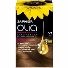 Garnier Olia Permanent Hair Colour, 5.3 Golden Brown