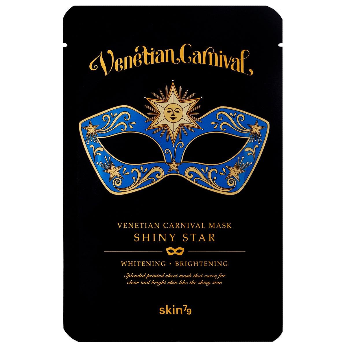 Venetian Carnival Mask Shiny Star 23 g Skin79 Sheet Masks