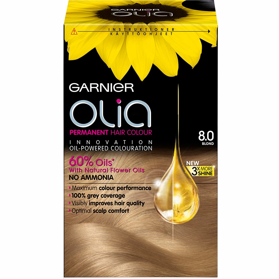 Garnier Olia Permanent Hair Colour 8.0 Blond Garnier Hårfärg