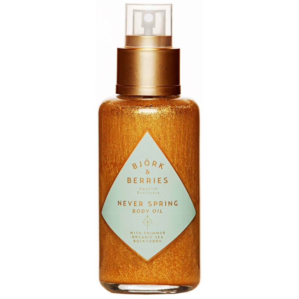 Björk & Berries Never Spring Body Oil with Shimmer