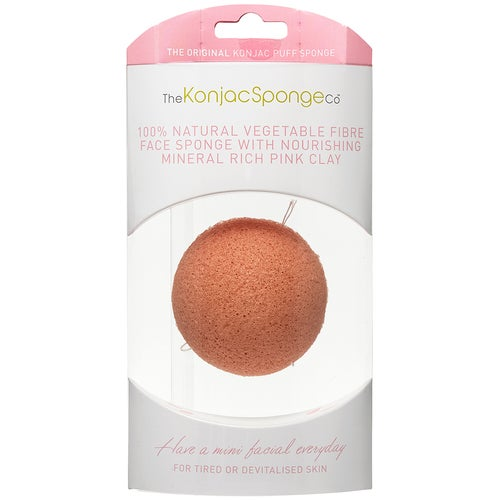 Konjac Sponge Premium Facial Puff with Pink Clay