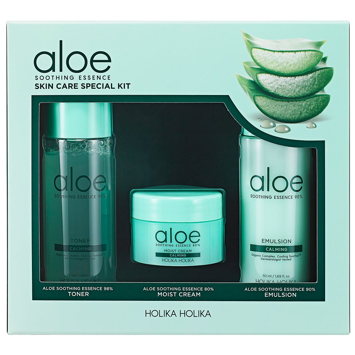 Aloe Soothing Essence Skin Care Special Kit Holika Holika K-Beauty Kit