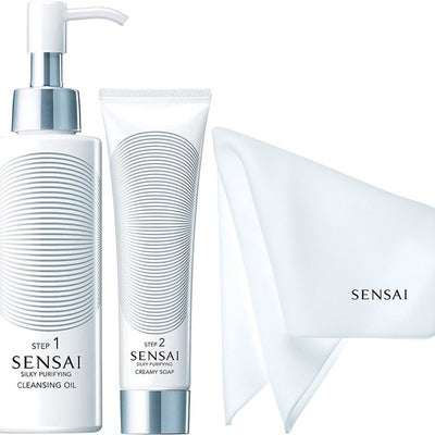 Sensai Silky Purifying Cleansing Routine