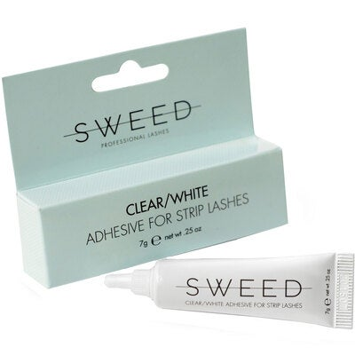 Sweed Lashes Clear/White Adhesive for Strip Lashes