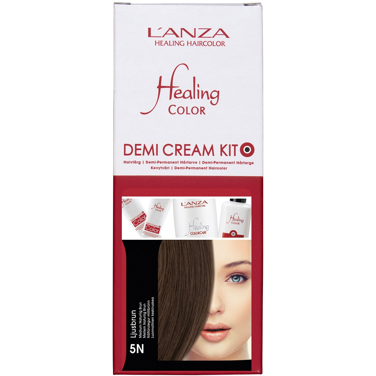 L'ANZA Healing Color Demi Cream Kit, 5N Ljusbrun
