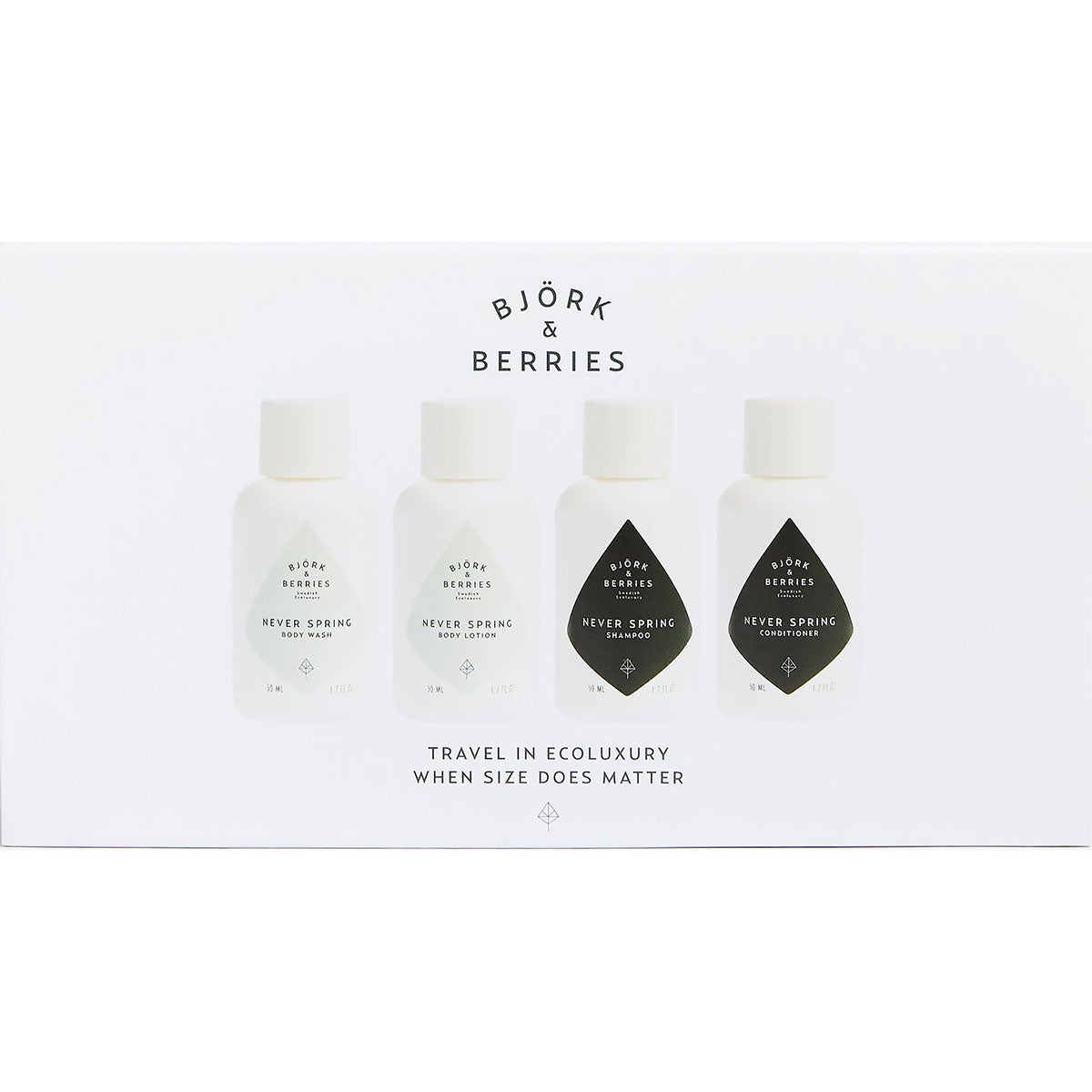 Björk & Berries Never Spring Ecoluxury Travel Kit