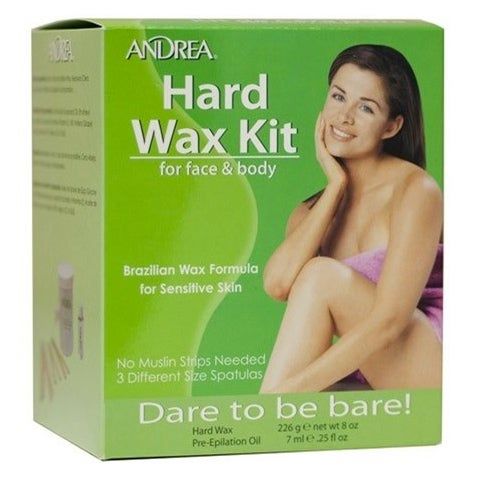 Andrea Brazilian Hard Wax Kit for Face & Body