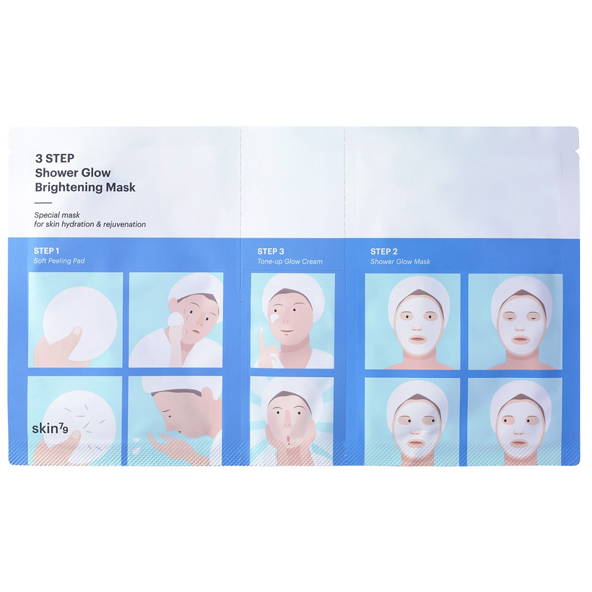 Skin79 3 Step Shower Glow Brightening Mask