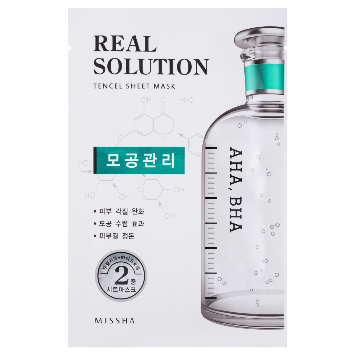 MISSHA Real Solution Tencel Sheet Mask (Pore Control)