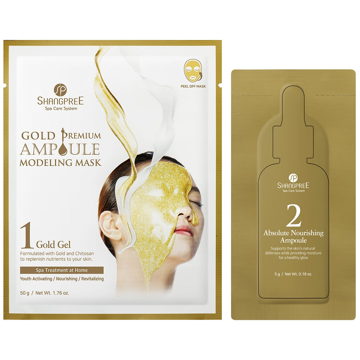 Shangpree Gold Premium Ampoule Modeling Mask