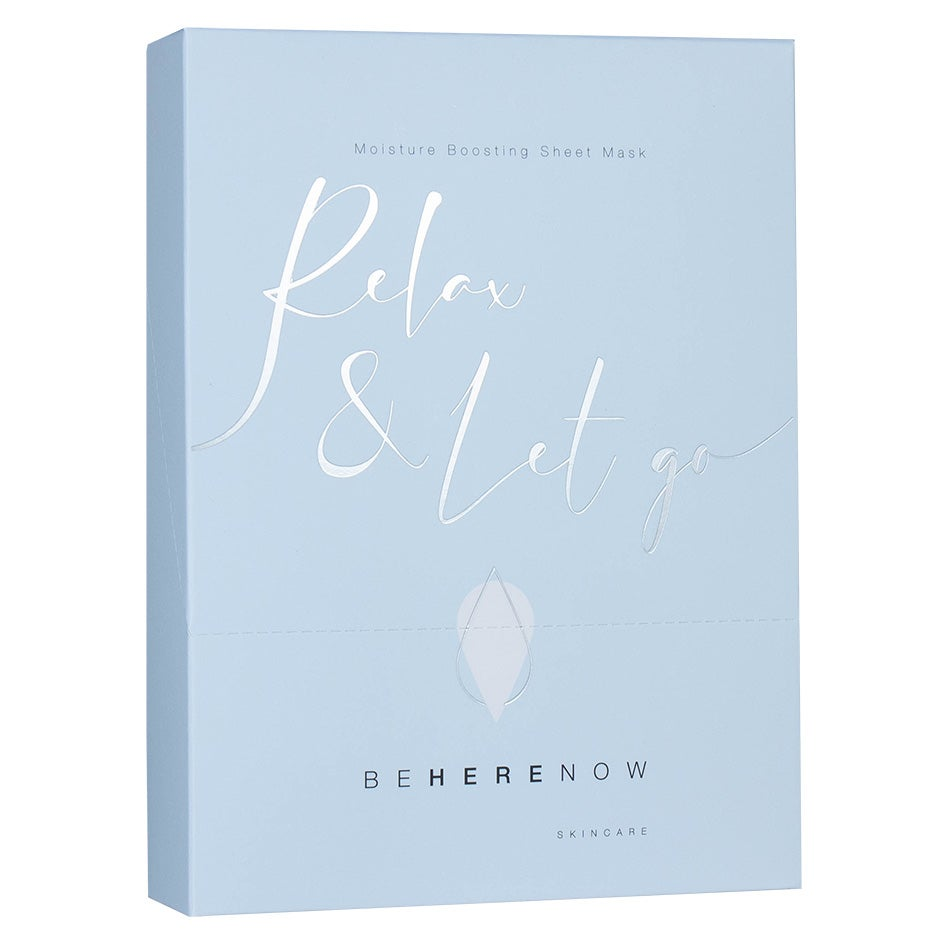 Relax & Let Go – Moisture Boosting Sheet Mask Be Here Now Skincare Ansiktsmask