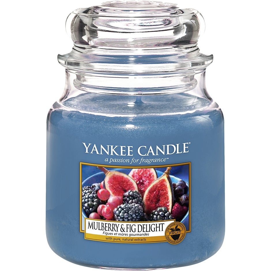 Mulberry & Fig Delight 411 g Yankee Candle Doftljus