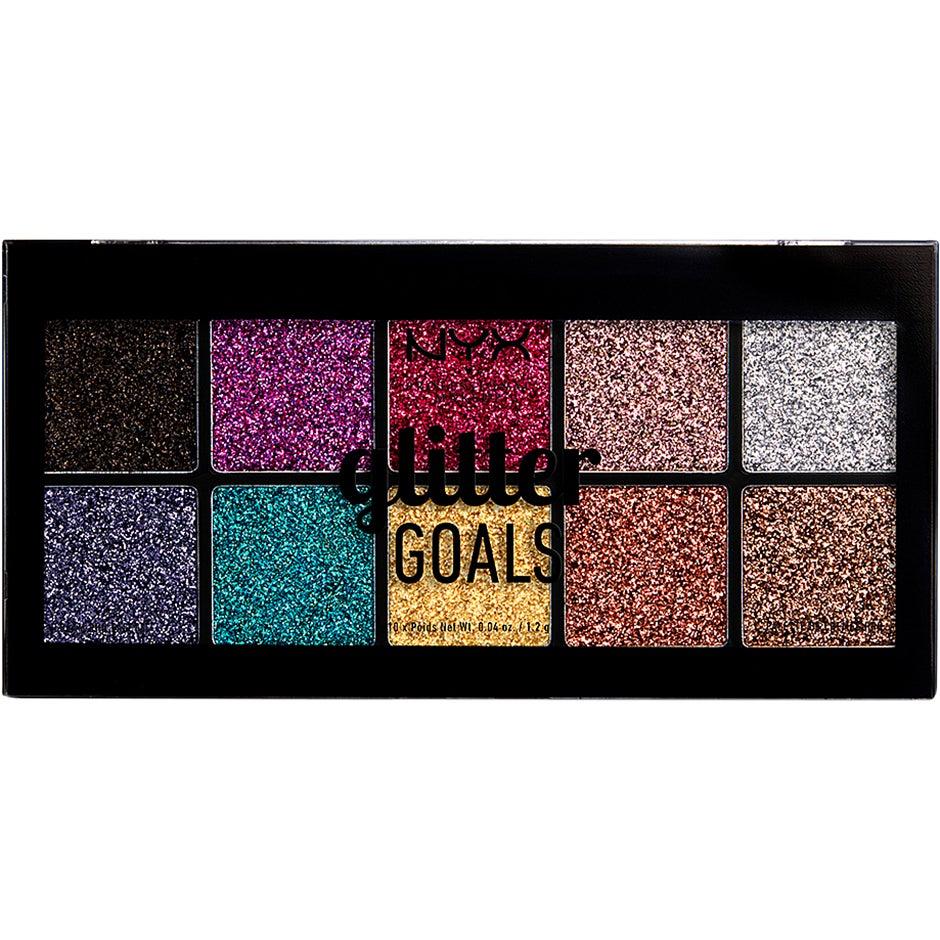 Glitter Goals Cream Pro Palette NYX Professional Makeup Ögonpaletter