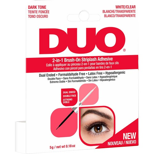 Andrea DUO 2-in-1 Brush-On Adhesive Clear & Dark