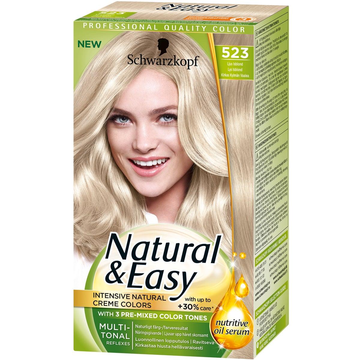 Natural & Easy 523 Ljus Isblond Schwarzkopf Blond hårfärg