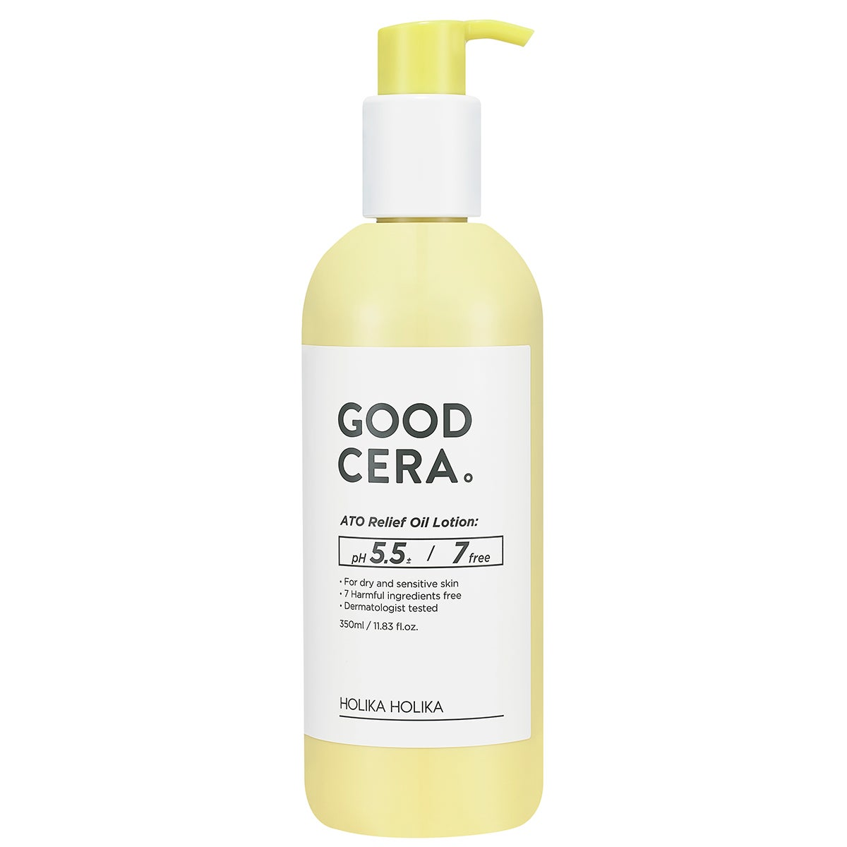 Good Cera ATO Relief Oil Lotion 350 ml Holika Holika K-Beauty Steg för Steg