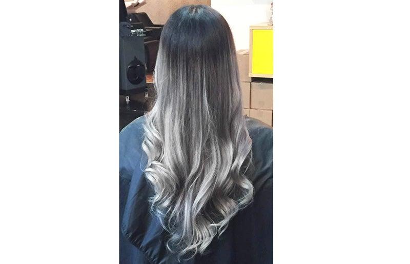 färg för grått hår