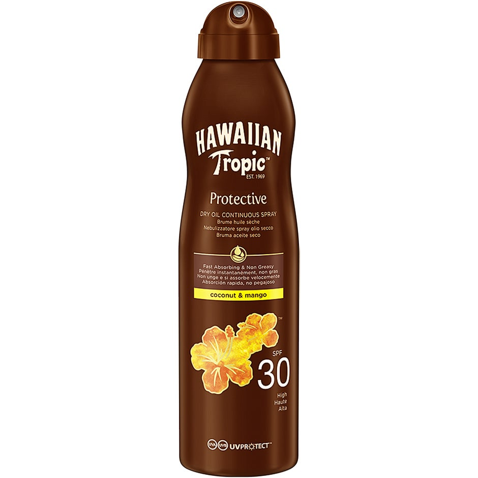 Hawaiian Tropic Dry Oil Coconut & Mango C-Spray SPF 30 180 ml Hawaiian Tropic Solprodukter
