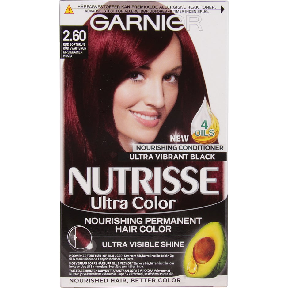 Garnier Nutrisse Ultra Color Deep Cherry Black Garnier Röd hårfärg