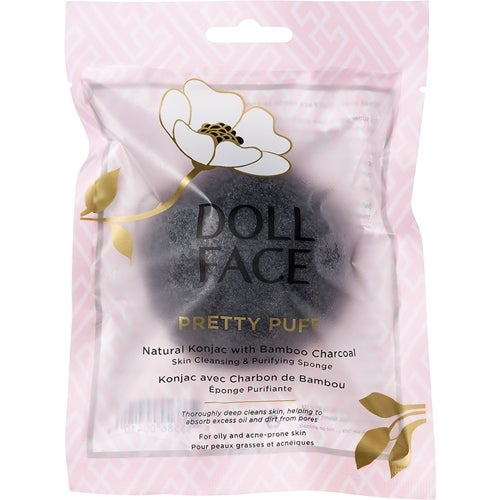 Doll Face Pretty Puff Bamboo Charcoal Clarifying Sponge