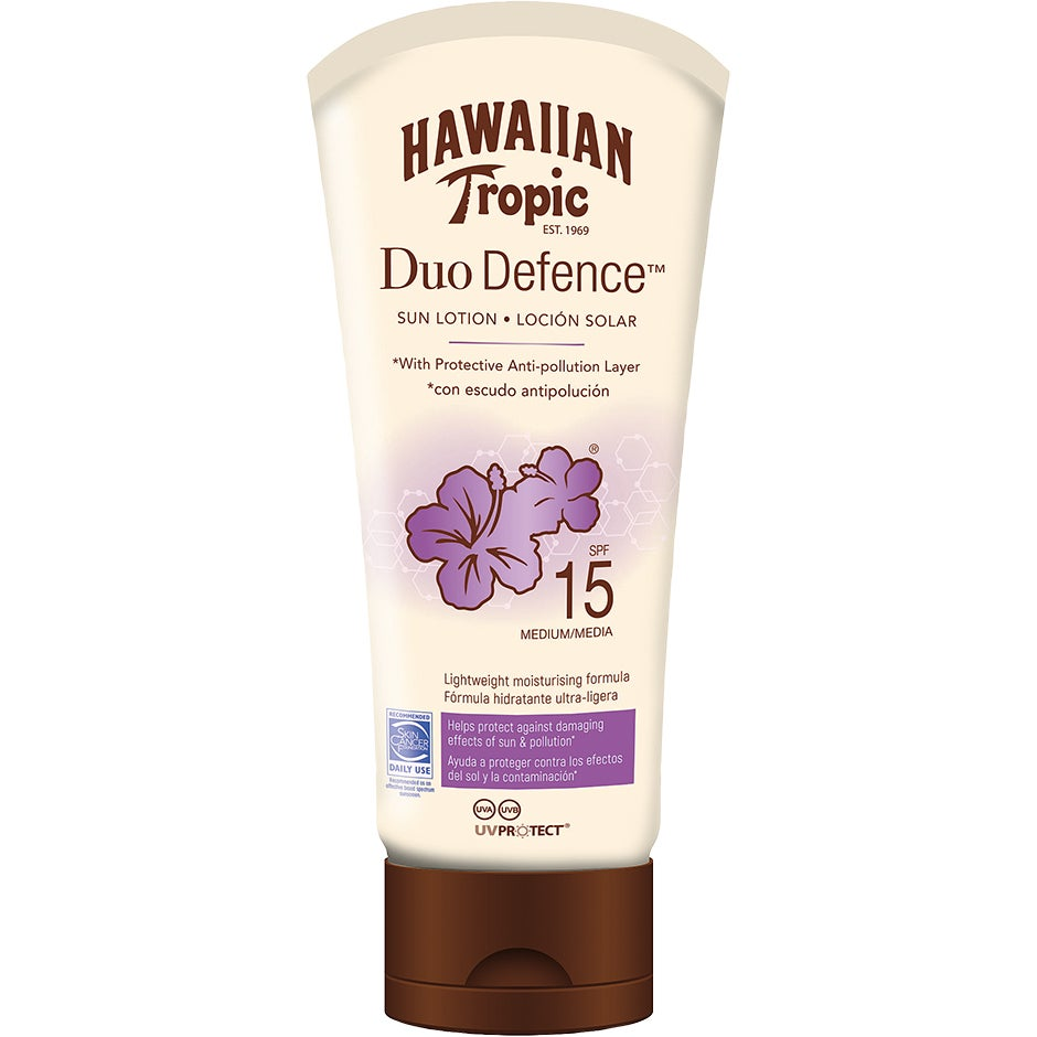 Hawaiian Tropic DuoDefence Sun Lotion SPF15 180 ml Hawaiian Tropic Solkräm
