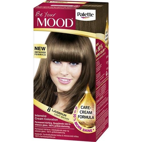 mood hårfärg ljusbrun