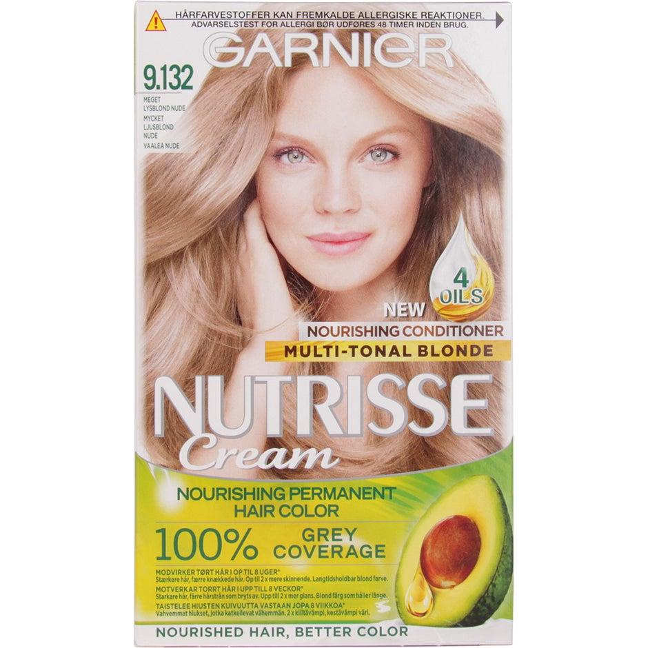 Garnier Nutrisse Cream 9.132 Nude Light Blonde Garnier Blond hårfärg