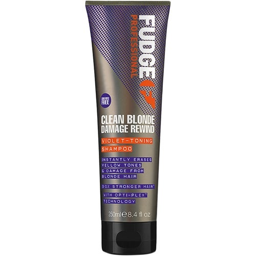 Fudge Clean Blonde Damage Rewind Violet-Toning Shampoo