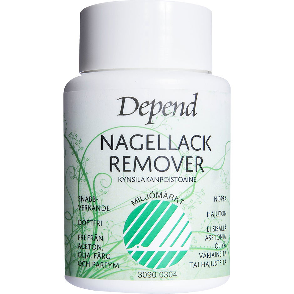 Depend Ecolabelled Svanen Remover Dip-In, 75 ml Depend Nagellacksremover