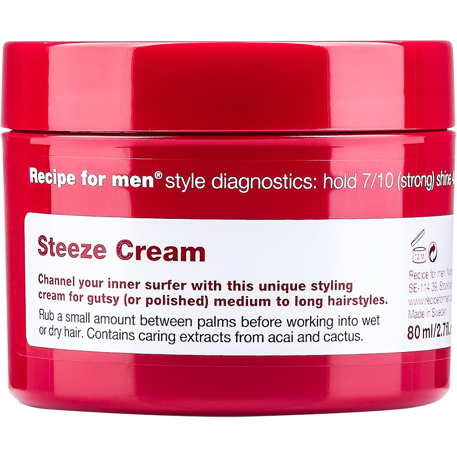 Recipe for Men Steeze Cream Wax 80 ml Recipe for men Styling