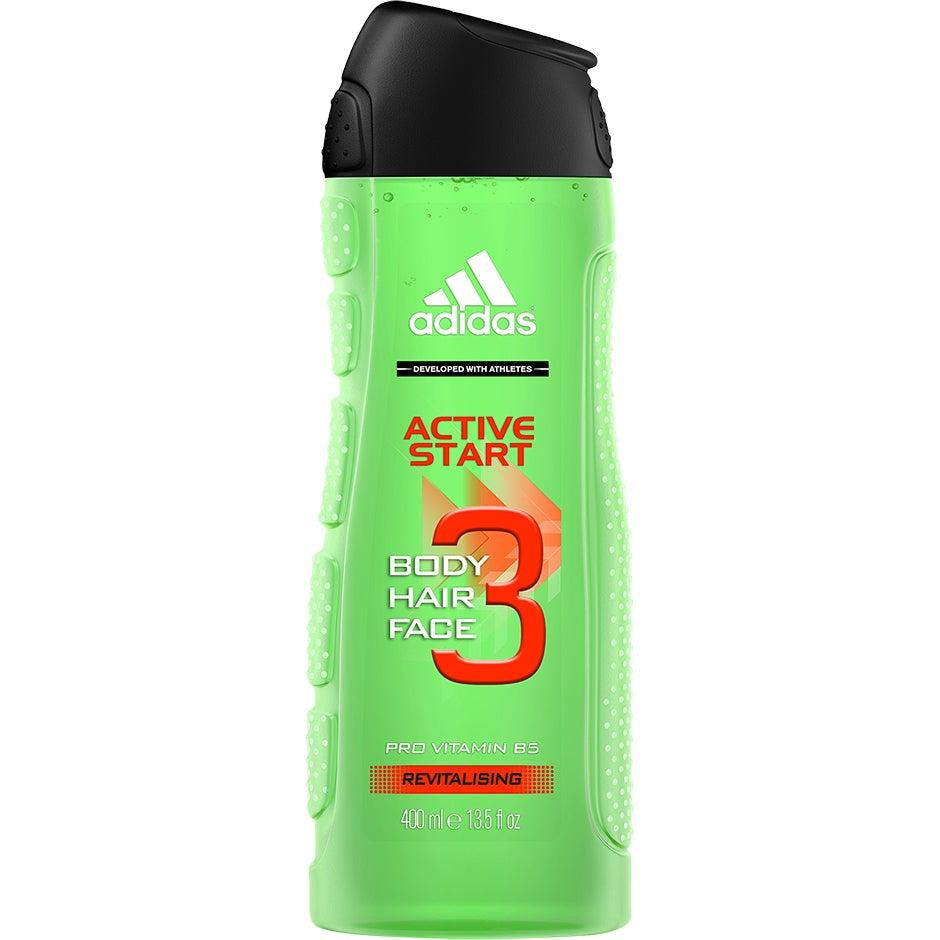 3 in 1 Active Start Shower Gel, 400 ml Adidas Dusch & Bad