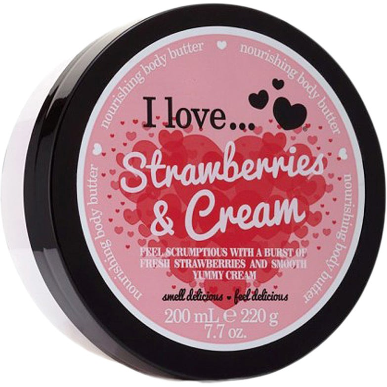 I Love… Strawberries & Cream Body Butter 200 ml I love… Body Butter