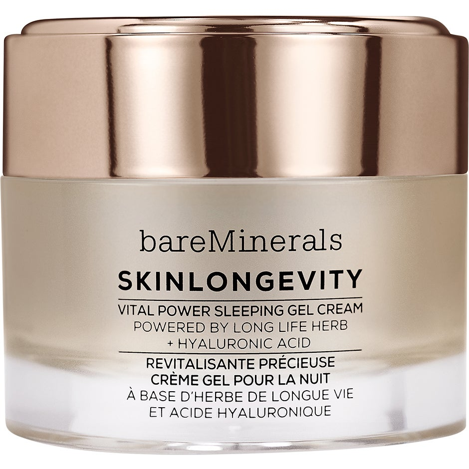 bareMinerals Skinlongevity Vital Power Sleeping Gel Cream 50 ml bareMinerals Nattkräm