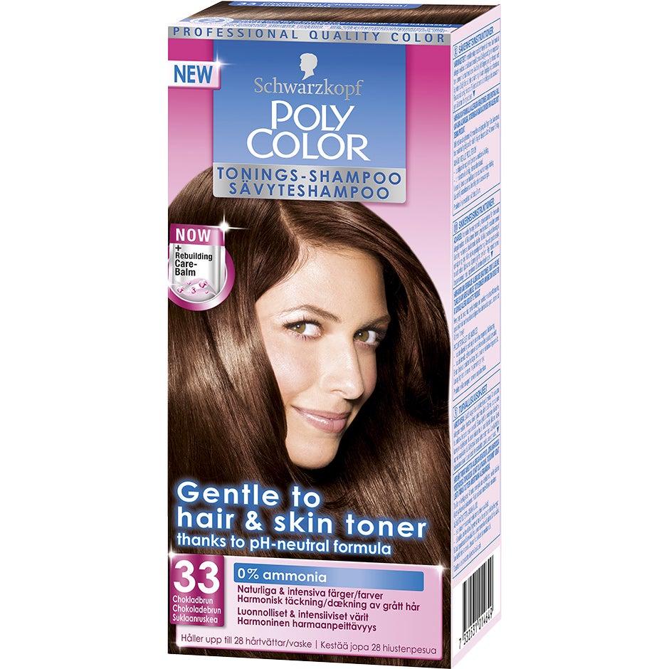 Schwarzkopf Poly Color Tonings-Shampoo 33 – Chokladbrun Schwarzkopf Hårfärg