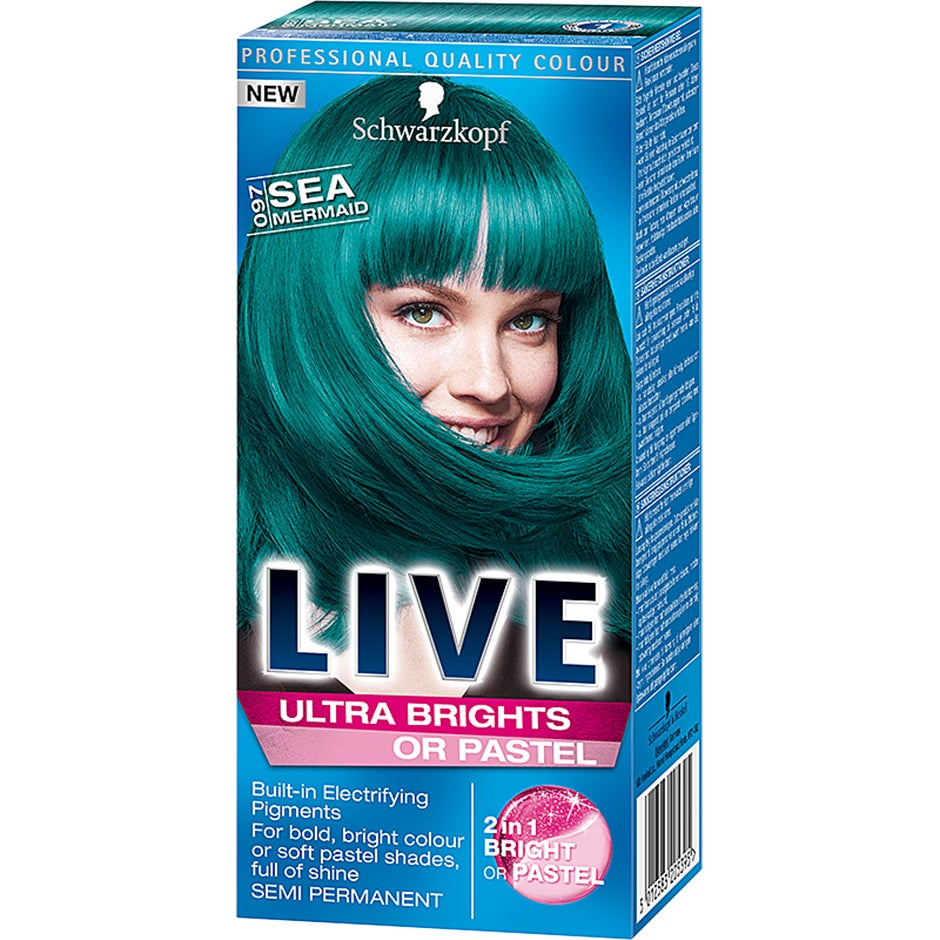 Schwarzkopf Live Color Ultra Brights Or Pastel 097 Sea Mermaid Schwarzkopf Alla hårfärger