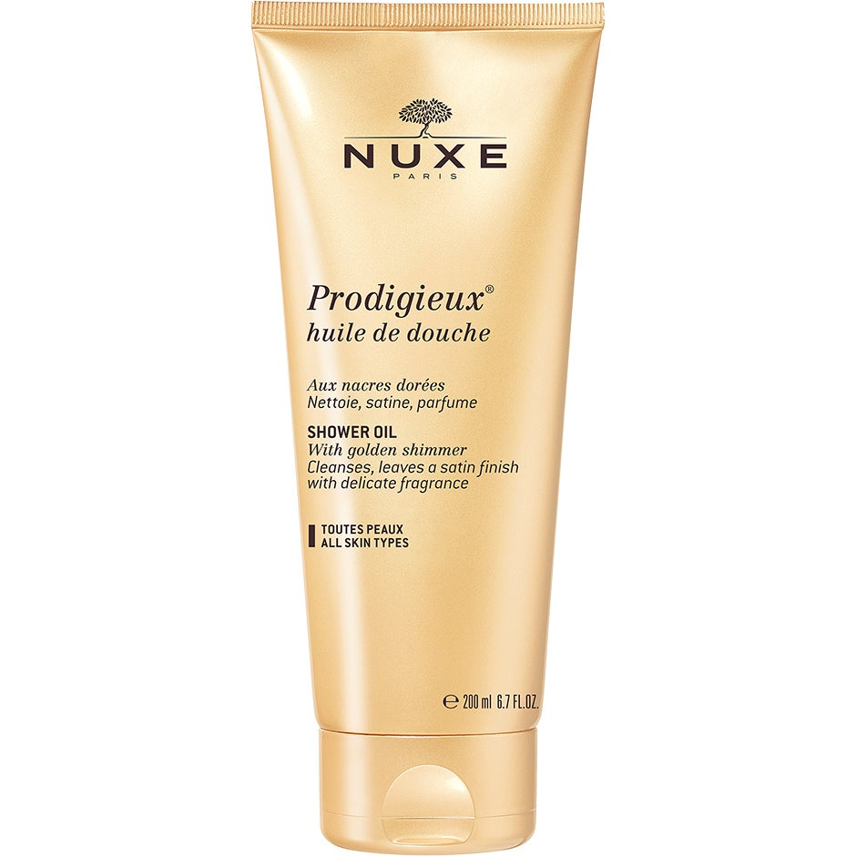 NUXE Prodigieux Shower Oil with Golden Shimmer 200 ml Nuxe Kroppsskimmer