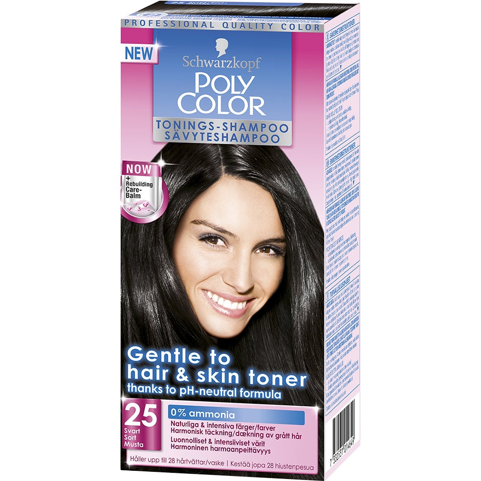 Schwarzkopf Poly Color Tonings-Shampoo 25 – Svart Schwarzkopf Hårfärg