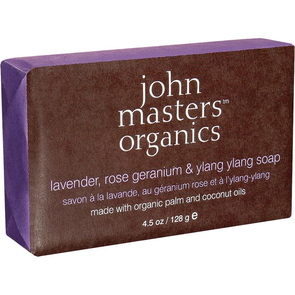 John Masters Organics Lavender Rose Geranium & Ylang Ylang Soap 128 g John Masters Organics Tvål