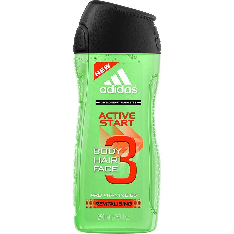 3 in 1 Active Start Shower Gel, 250 ml Adidas Dusch & Bad