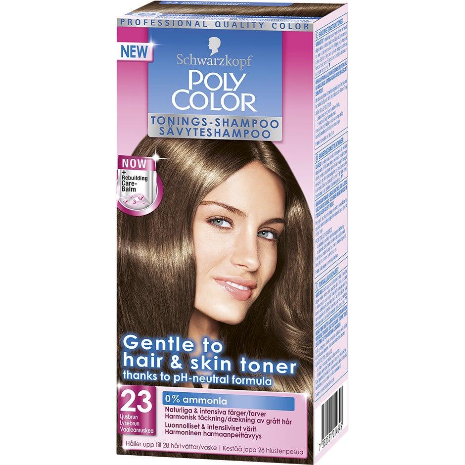 Schwarzkopf Poly Color Tonings-Shampoo 23 – Ljusbrun Schwarzkopf Hårfärg
